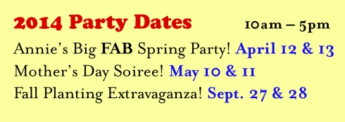 party dates